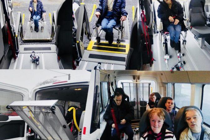 La nouvelle acquisition du Cigalou : un véhicule adapté avec élévateur