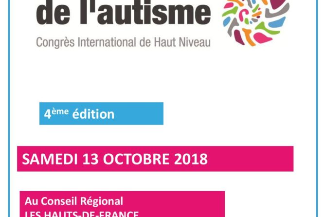 Le congrès de l'autisme 2018 – Le samedi 13 octobre 2018 à Lille