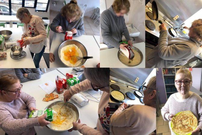 Atelier cuisine à l'occasion de la chandeleur