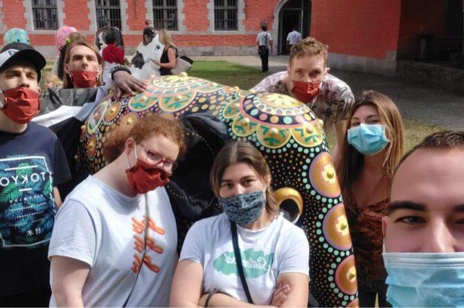 Elephant parade à Mons